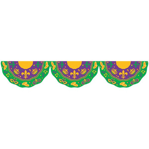 Mardi Gras Garland Bunting 11 Ft Party Decorations