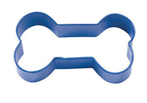 Dog Bone Blue Painted Metal Cookie Cutter 3 inch Wilton 2308-1311