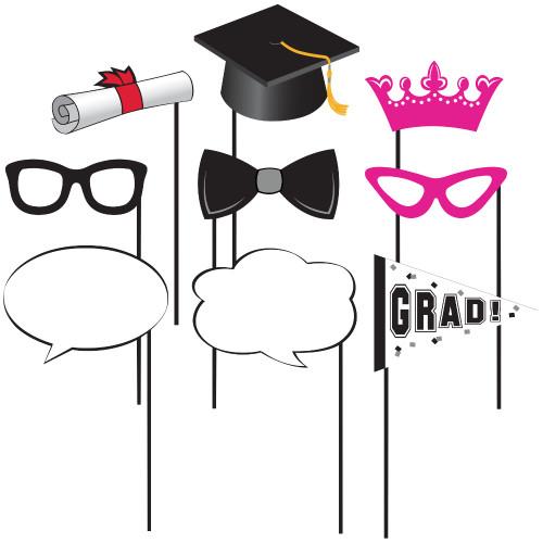 Graduation Photo Props Party Supplies 10 pc
