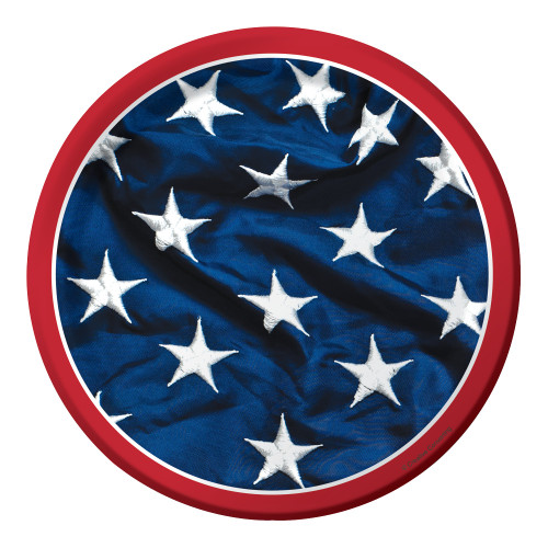Patriotic Symbol Flag 7 inch Dessert Plates 8 ct 4th July Stars Stripes
