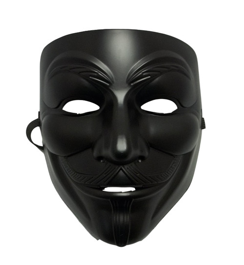 Black Guy Fawkes Anonymous V for Vendetta Halloween Costume Mask