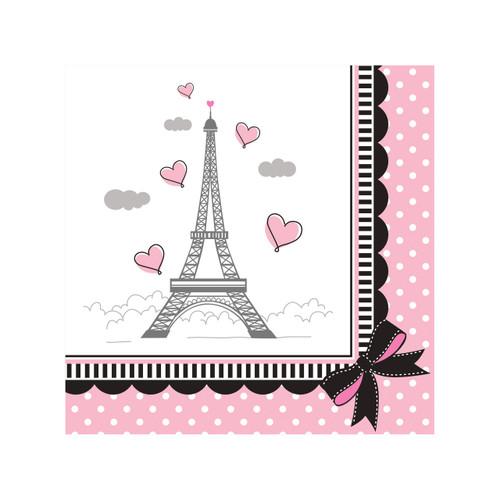 Party in Paris Birthday 18 Beverage Napkins Eiffel Tower