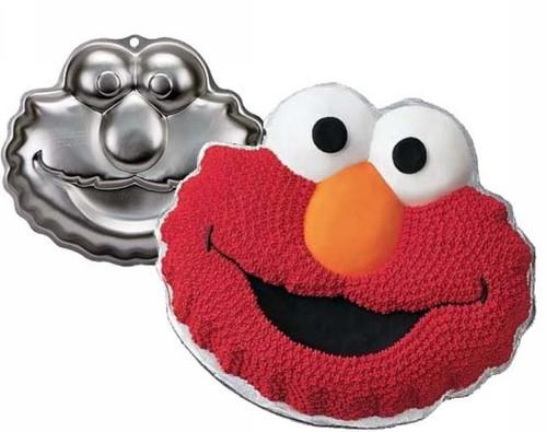 Elmo Cake Pan Party Birthday Wilton Sesame Street