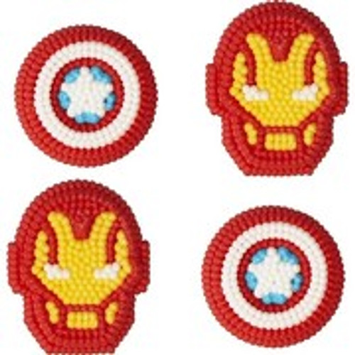 Avengers Icing Decorations 12 Ct Wilton Captain America Iron Man