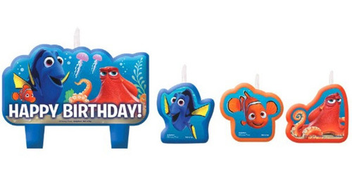 Finding Dory Birthday Party 4 Pc Candles Set Cake Topper Nemo