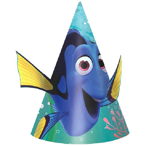 Finding Dory Birthday Party Cone Hats 8 Ct paper