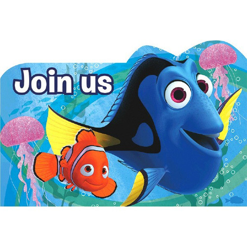 Finding Dory Birthday Party Invitations Postcards 8 Ct