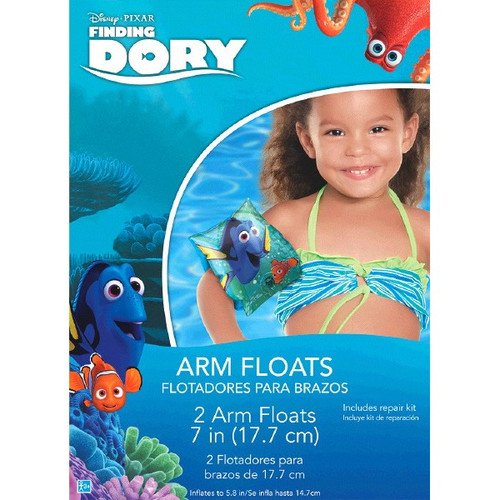 "Finding Dory Inflatable 2 Arm Floats 7"" Plastic w Repair Kit"