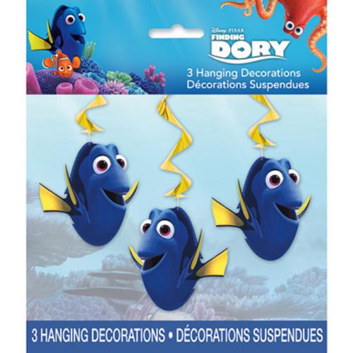 "Finding Dory 3 Hanging Swirls 26"" Decorations"