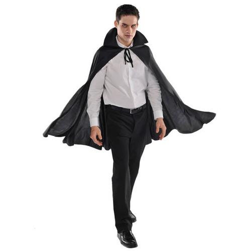 Adult Black Cape Vampire Dracula