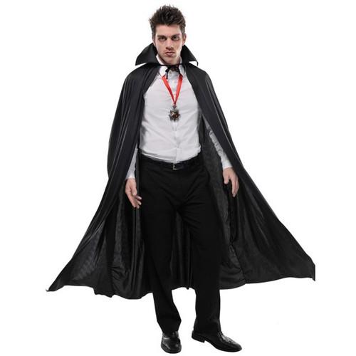 Adult Full Length Black Cape Vampire Dracula