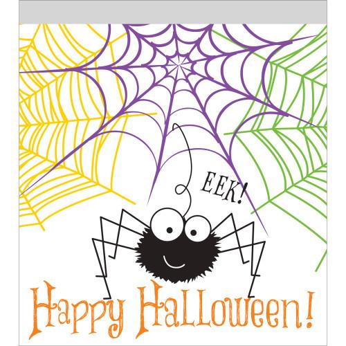 10 Spider Halloween Treat Sandwich Zip Bags Party