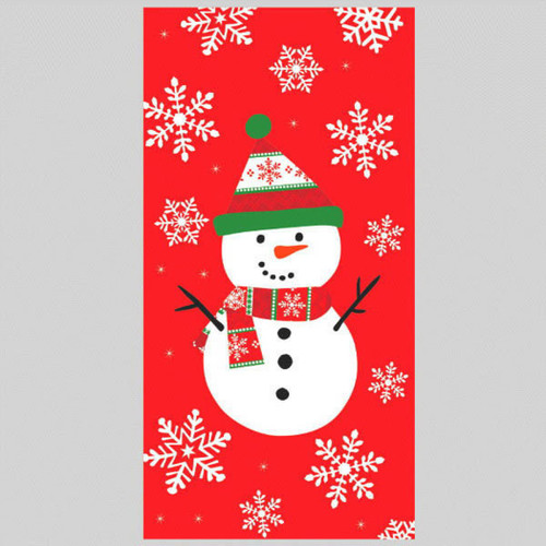 12 Very Merry Christmas Snowman Treat Bags Paper Sack