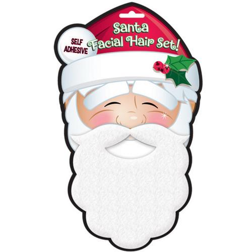 Santa Claus White Facial Hair Set Moustache Beard