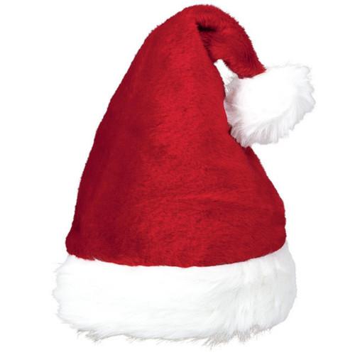 "Plush Santa Claus Hat 15"" x 11"", Red"