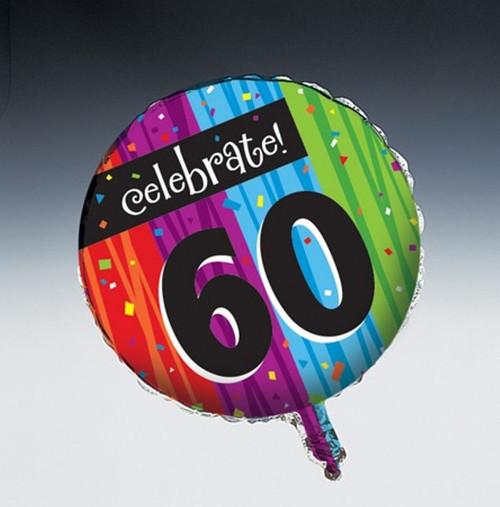 Milestones Foil Balloon Age 60 Milestone Birthday Party