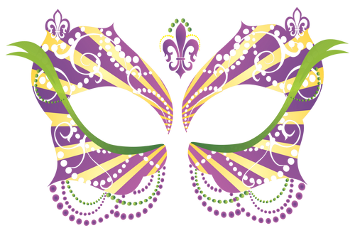 Masque Rage Temp Tattoo Mask Ladies Mardi Gras Masquerade Costume
