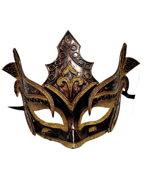 Bronze Warrior Men Venetian Mardi Gras Halloween Masquerade Mask