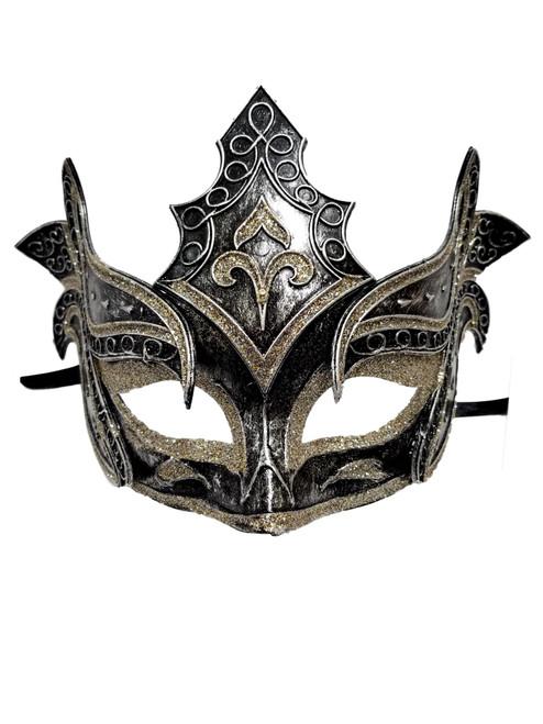 Pewter Silver Warrior Men Venetian Mardi Gras Halloween Masquerade Mask