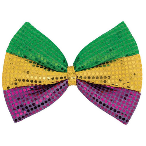 Huge Mardi Gras Oversized Bow Tie Bowtie 8 x 12 inches Purple Green Gold