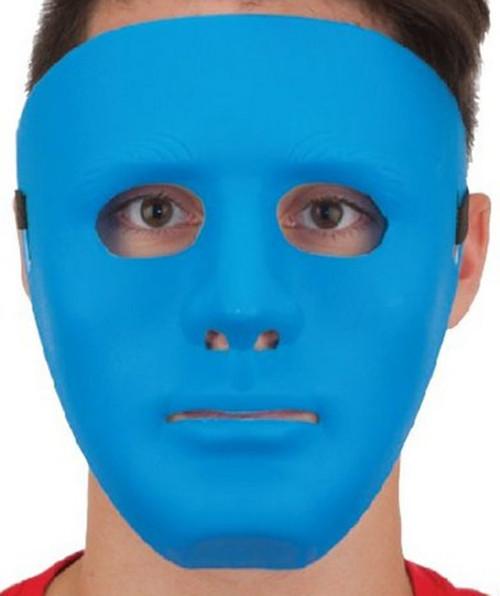 Blue Full Face Plastic Masquerade Costume Mask Large
