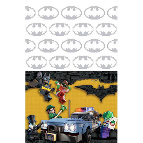 Batman Lego Plastic Tablecover 54 x 96 Border Print