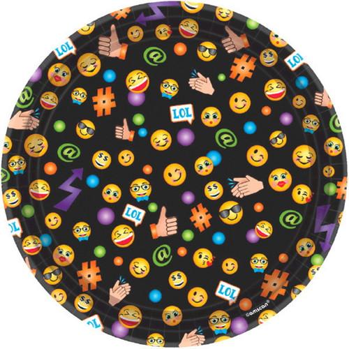 "LOL Emoji 8 7"" Dessert Cake Plates Birthday Party"