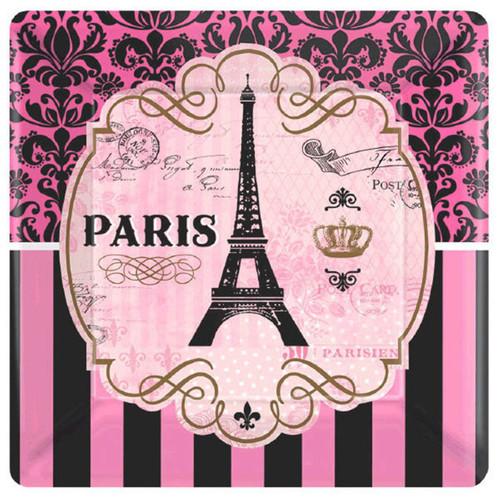 "Day In Paris 8 7"" Dessert Cake Plates Birthday Party"