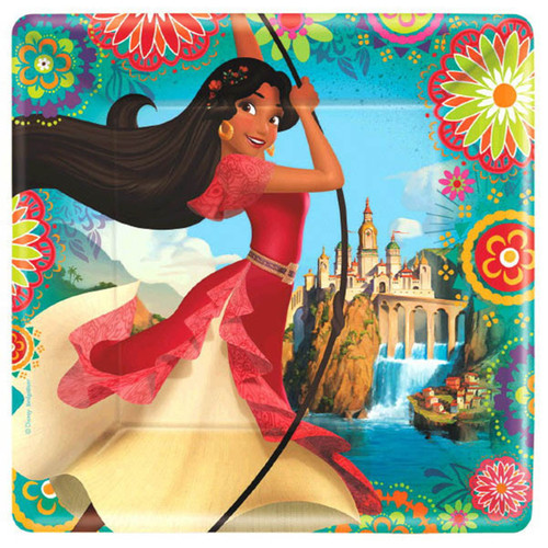"Elena of Avalor 8 9"" Lunch Plates Birthday Party"