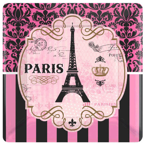 """Day In Paris 8 10"""" Lunch Plates Birthday Party"""