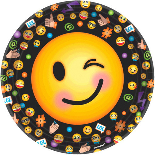 """LOL Emoji 8 9"""" Lunch Plates Birthday Party"""