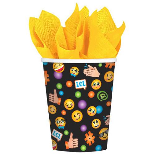 LOL Emoji 8 9 oz Hot Cold Paper Cups Birthday Party