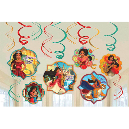 Elena of Avalor 12 Ct Swirl Decoration Value Pack Birthday Party