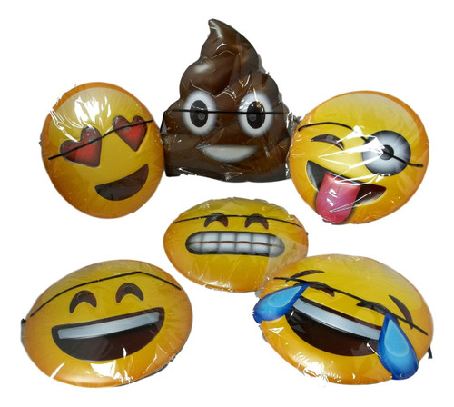 Emoji Plastic Masks 6 Ct  Party Mask Favors