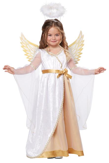 Sweet Little Angel Halloween Dress Up Play Costume Toddler 3-4