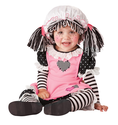 Baby Doll Halloween Costume  Infant 12-18 Mths Rag doll