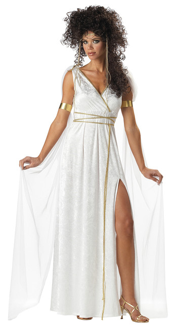 Athenian Goddess Halloween Costume Adult Womans Large 10 - 12
