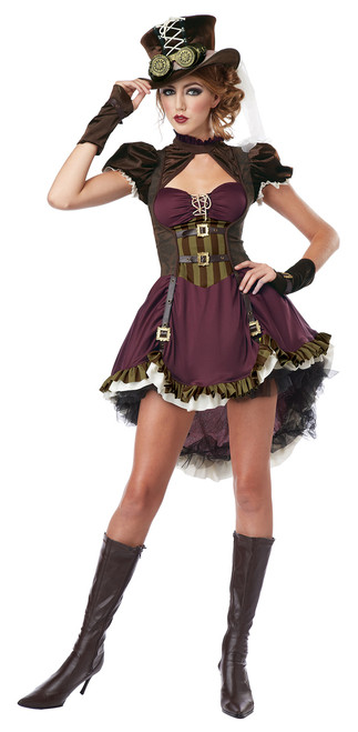 Steampunk Girl Halloween Costume Adult Womans Large 10-12