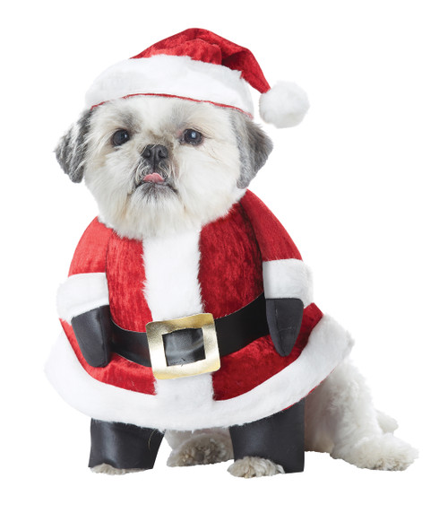 Santa Paws XSmall Dog Costume Christmas Hat Outfit XS, Red