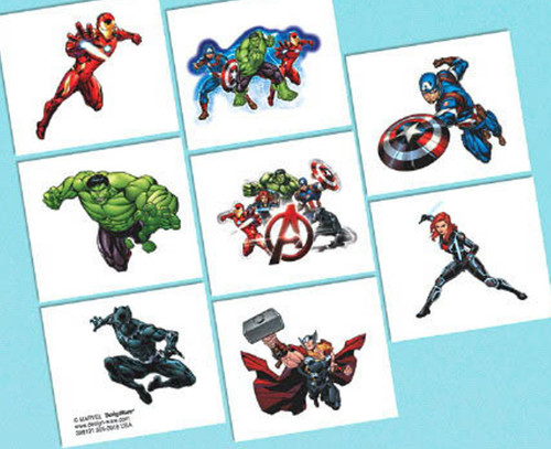 Epic Avengers Temporary Tattoos 8 Ct Birthday Party Favors