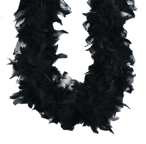 Black 70 gm 72 in 6 Ft Chandelle Feather Boa