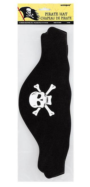 Pirate Hat Flat Foam Black