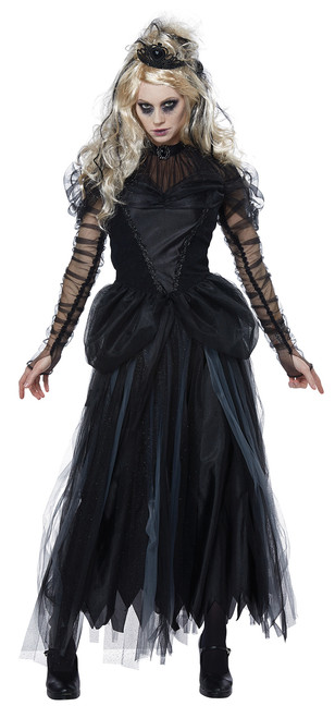 Dark Princess Halloween Costume Adult Women XL  12-14 Black