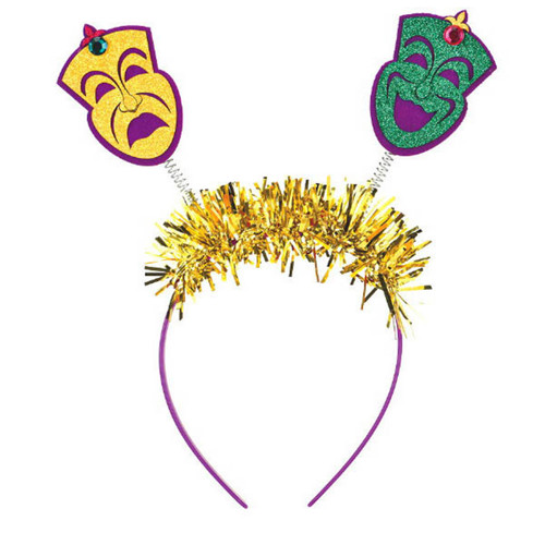 Mardi Gras Head Bopper HeadBopper Headband Comedy Tragedy Masks
