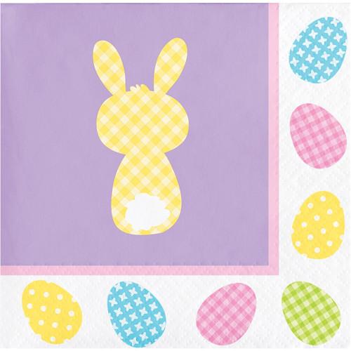 Cottontails Easter Bunny 16 Ct Beverage Paper Napkins Peeps