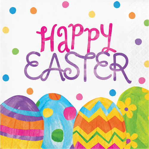 """Egg Toss """"Happy Easter"""" 16 Ct Lunch Paper Napkins"""