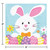Easter Bunny Business 16 Ct Beverage Napkins 2 Ply Paper