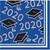 Class of 2020 Blue Black 36 ct Value Size Graduation Beverage Napkins