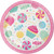 "Candy Bouquet Birthday 8 Ct 7"" Dessert Cake Plates"