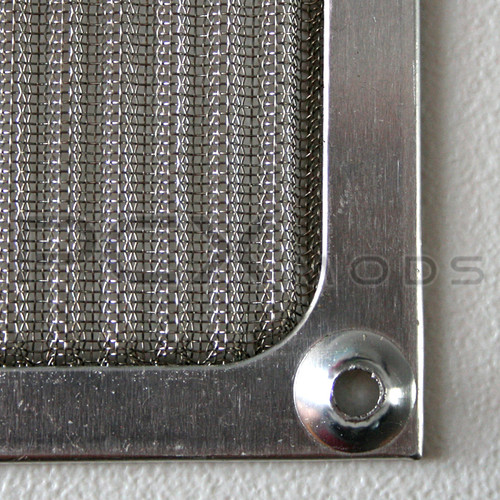 80mm Silver Mesh Aluminum Fan Filter Premium Grade quantities are limited